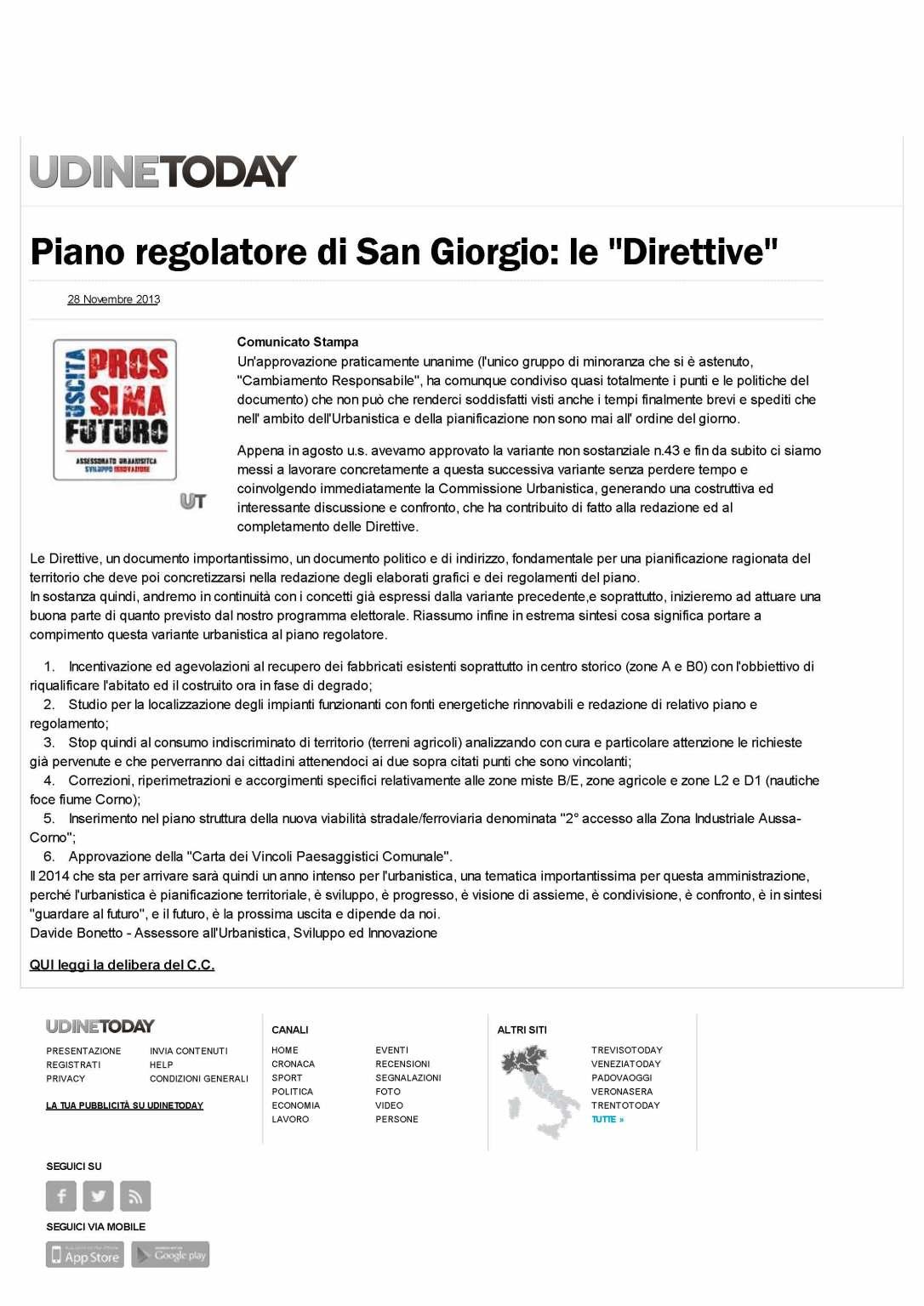 UdineToday 18.11.2013