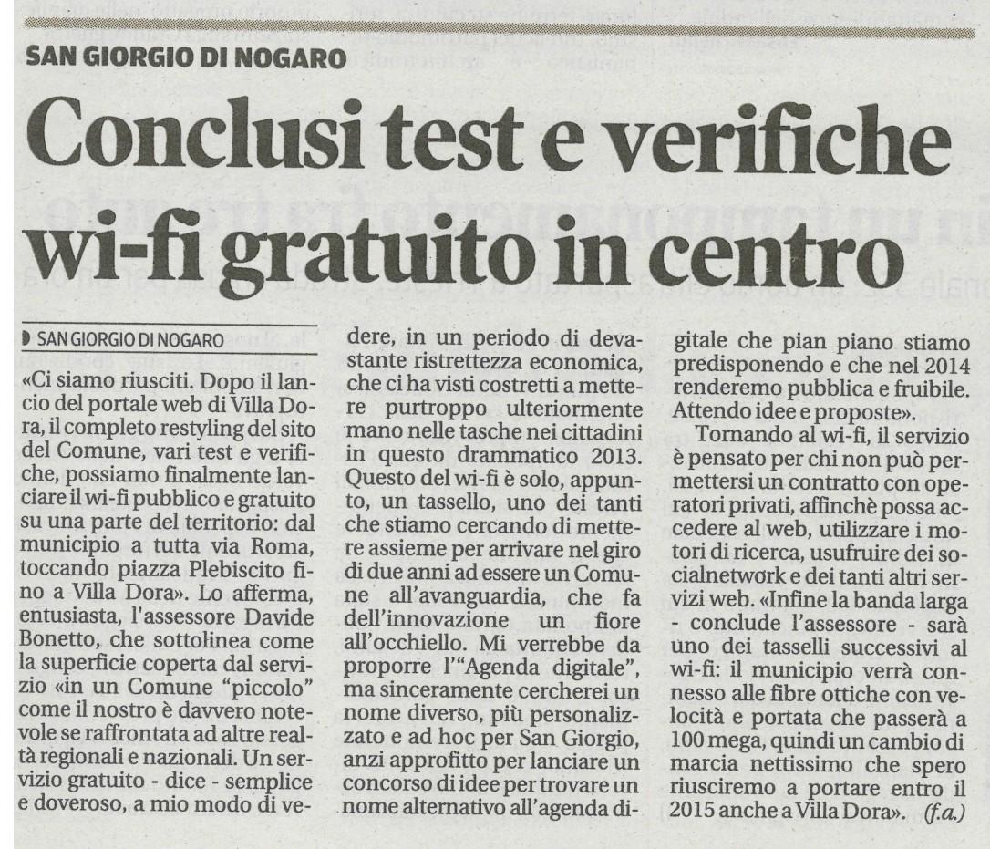 Messaggero Veneto 21.11.2013
