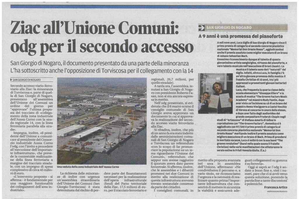 Rassegna stampa 05.06.2013 (1) Messaggero Veneto