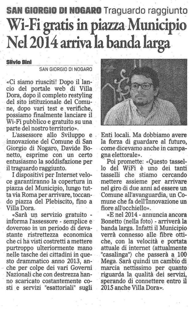 Il Gazzettino 19/11/2013