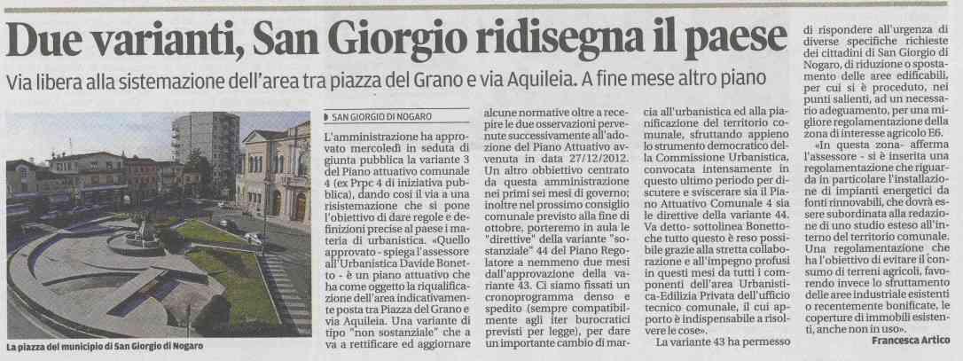 21.10.2013 - Messaggero Veneto