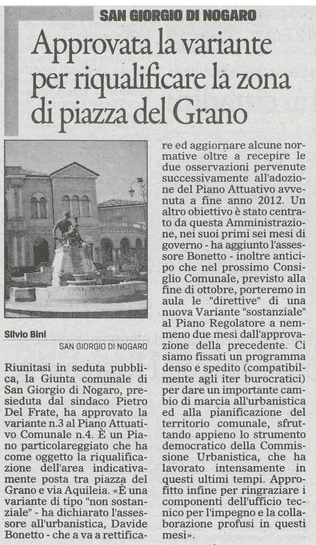 Il Gazzettino 17.10.2013