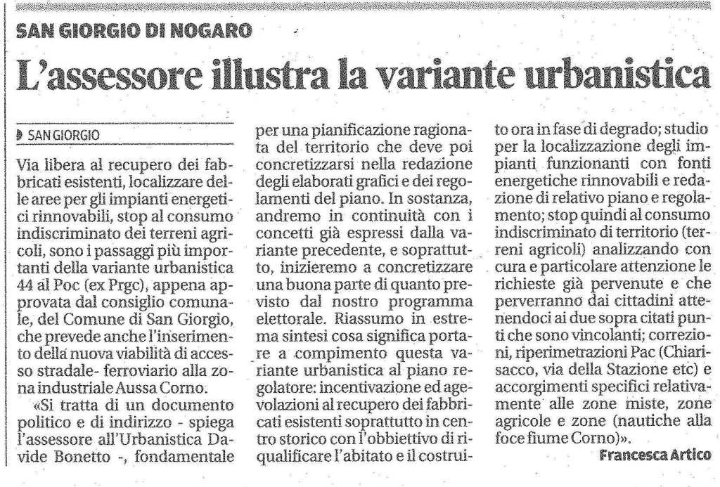 Messaggero Veneto 16.12.2013