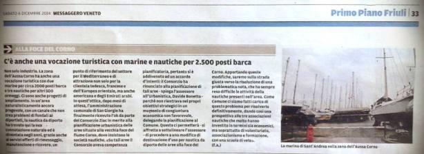 Messaggero Veneto del 06.12.2014