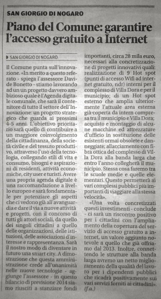 Messaggero Veneto 07-09-14