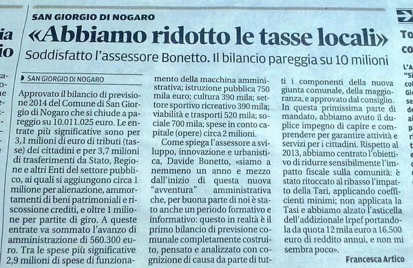 Messaggero Veneto 17.08.2014
