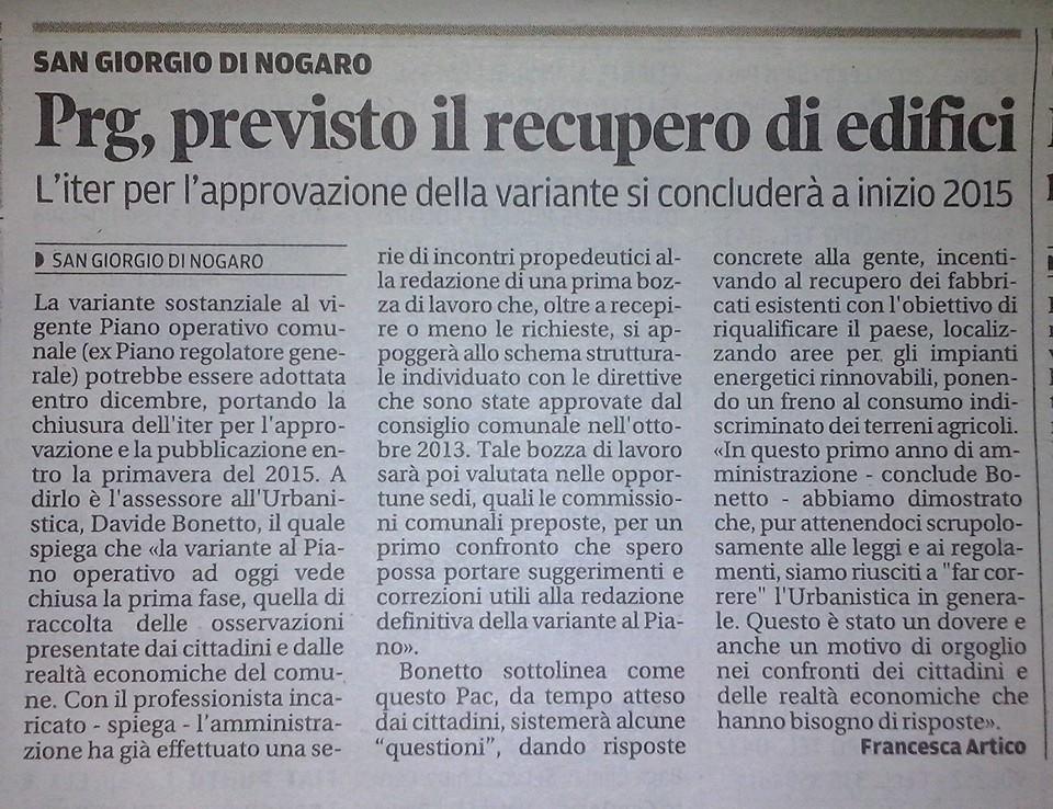 Messaggero Veneto  30.09.2014