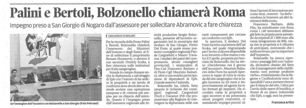 Messaggero Veneto 14.03.2014