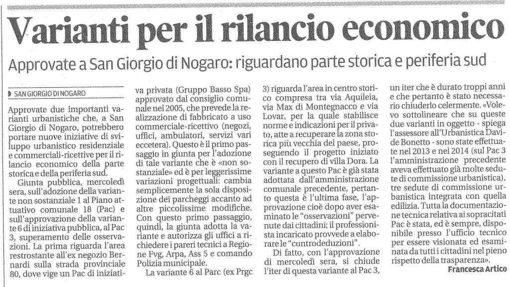 Messaggero Veneto del 21/02/2014