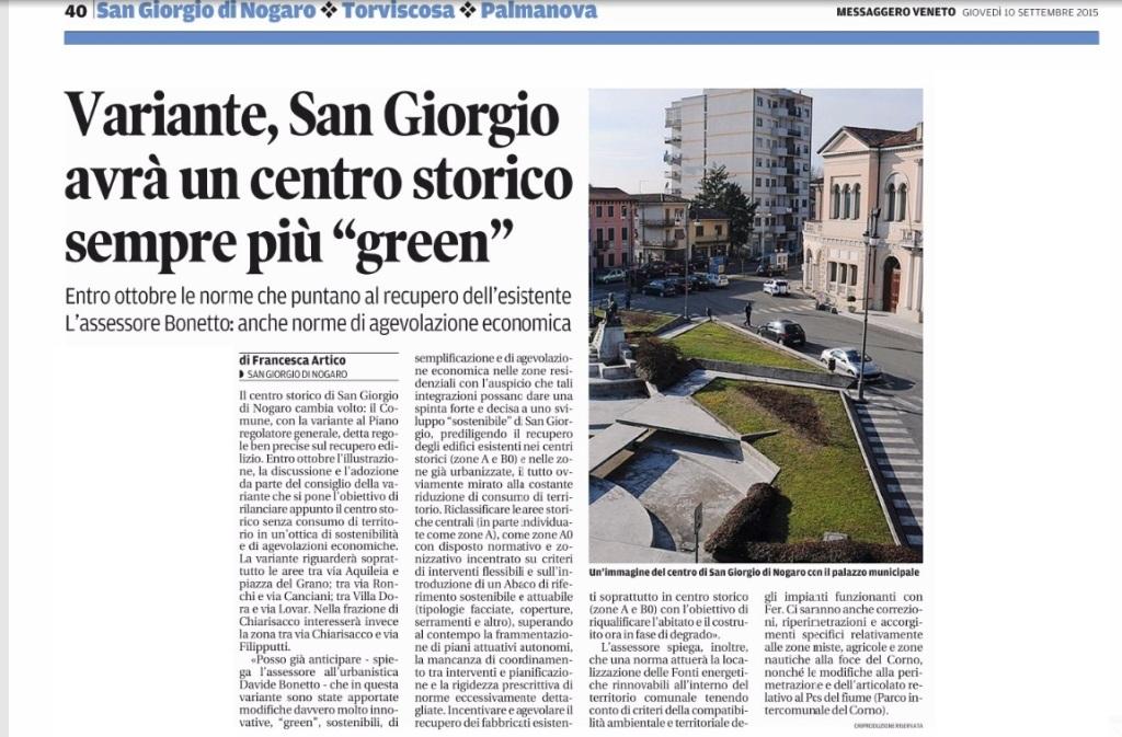 Messaggero Veneto 10.09.2015