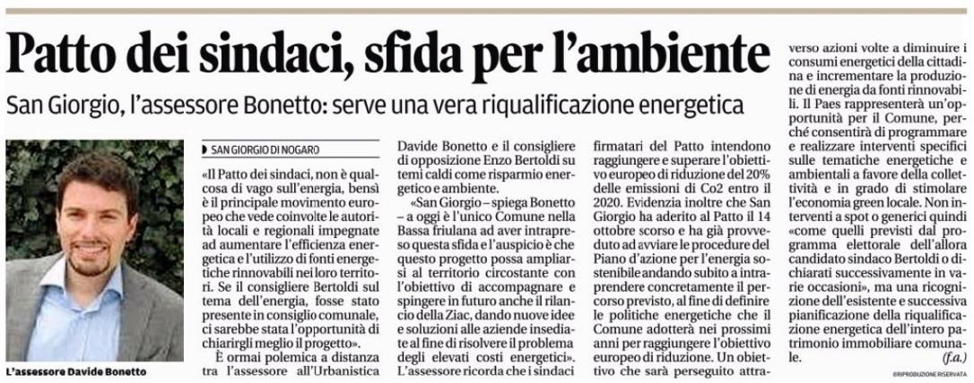 Messaggero Veneto 03.11.2015
