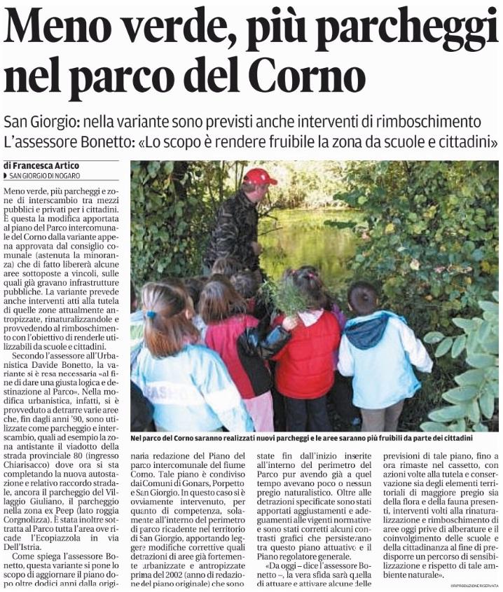 Messaggero Veneto 21.10.2015
