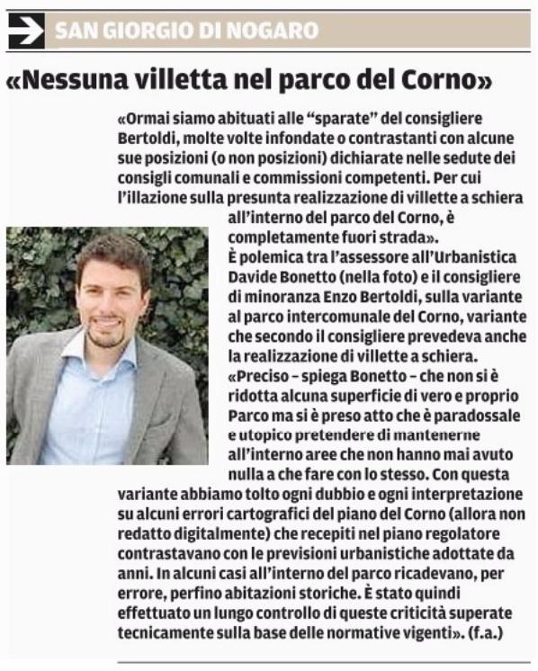 Messaggero Veneto 25.10.2015